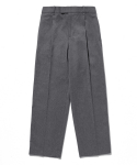 라이풀() ONE TUCK WIDE SLACKS charcoal gray