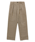 라이풀() STRAP PLAID EASY PANTS brown
