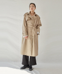 OVER TRENCH COAT_DARK BEIGE
