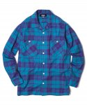 샌드파이퍼(sandpiper) SNPP CHECK SHIRTS(PURPLE BLUE)