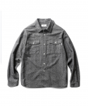 에스피오나지(ESPIONAGE) Vass 19th Work Shirt Charcoal Dot