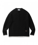 에스피오나지(ESPIONAGE) Fisherman Guernsey Sweater Black