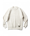 에스피오나지(ESPIONAGE) Matt Mid Neck Sweater Ivory