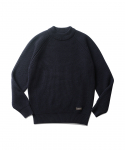 에스피오나지(ESPIONAGE) Matt Mid Neck Sweater Navy