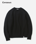 커버낫() HEAVY GAUGE KNIT CREWNECK BLACK