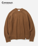 커버낫() HEAVY GAUGE KNIT CREWNECK CAMEL