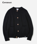 커버낫() HEAVY GAUGE KNIT CARDIGAN BLACK