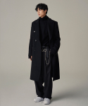 토니웩() Crudo Belted Cashmere Double Coat _ Black