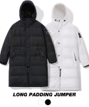 그루브라임(GROOVE RHYME) [1+1세트 단독특가] 2017 LONG PADDING JUMPER (BLACK / WHITE) [GPD001F43BK/WH]