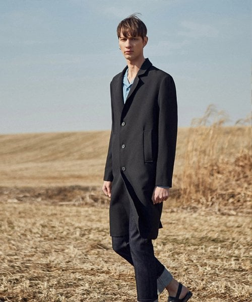 얀13(YAN13) MODERN LONG COAT_BLACK