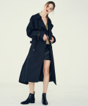 LE OVER TRENCH COAT(BLACK)