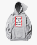 Frame Pullover Hoodie - Heather Grey