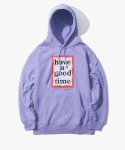 해브 어 굿 타임(HAVE A GOOD TIME) Frame Pullover Hoodie - Lavender