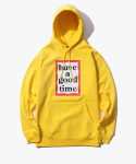 해브 어 굿 타임(HAVE A GOOD TIME) Frame Pullover Hoodie - Mustard