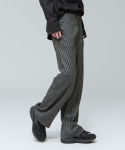 시에스타(SIESTA) SIESTA WIDE STRIPE PANTS [BLACK]