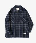 제로() HBT Half Zip Check Shirts [Navy]