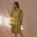 노미나떼(NOMINATE) RUFFLE SHIRT DRESS (MUSTARD)