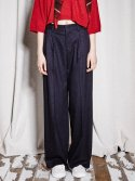 NEW CLASSIC WIDE LEG PANTS NAVY
