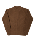 MIL CREW KNIT(FOR WINTER)-BROWN