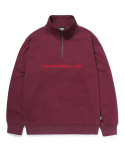 엘엠씨() QUARTER ZIP-UP SWEATSHIRT burgundy