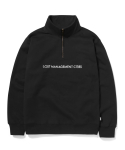 엘엠씨() QUARTER ZIP-UP SWEATSHIRT black