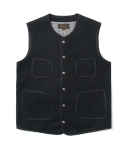유니폼브릿지(UNIFORM BRIDGE) round wool vest black