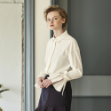 SLEEVE RIBBON SHIRT_WHITE