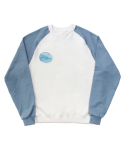 [EASY BUSY] Vintage Picture Raglan T-Shirts - White&Skyblue