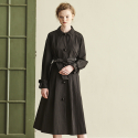 BLACK BALL BUTTON TRENCH COAT_BLACK