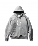 에스피오나지(ESPIONAGE) ESUI Quilted Zip Up Hoodie Grey
