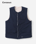 커버낫(COVERNAT) REVERSIBLE BOA VEST NAVY