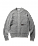 에스피오나지(ESPIONAGE) Fisherman Guernsey Heavy Weight Cardigan Grey
