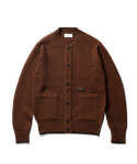 에스피오나지(ESPIONAGE) Fisherman Guernsey Heavy Weight Cardigan Brown