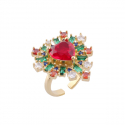 Angels Red Heart Ring