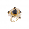 Angels Black Heart Ring