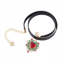 Angels Red Heart Choker