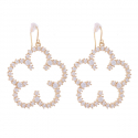 Angels Crystal Flower Earring