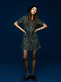 미드나잇 서커스(MIDNIGHT CIRCUS) Tweed Mini Dress in Black