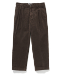 라이풀() RELAXED CORDUROY TURN-UP TROUSERS brown