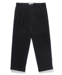 라이풀() RELAXED CORDUROY TURN-UP TROUSERS black