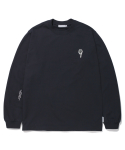 라이풀() FLOWER PATCHED LONG SLEEVE navy