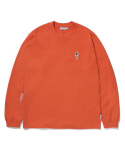 라이풀() FLOWER PATCHED LONG SLEEVE orange