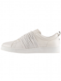 leather rope shoes [white ]
