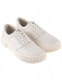 leather deco shoes [ white ]