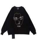 THE FACE SWEAT SHIRT BLACK