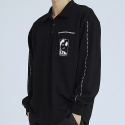 이에스씨 스튜디오(ESC STUDIO) tape polo shirt(black)