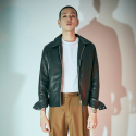 에스알에스티(SRST) Minimal single lamb leather jacket Black