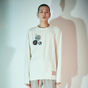 Raw-edge comfort fit reglan sweatshirts Ivory