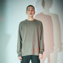 에스알에스티(SRST) Raw- edge comfort fit reglan sweatshirts Khaki