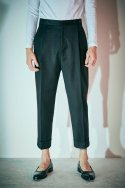 Comfort fit pleated trouser Black